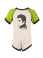 Elvis Body Bébé Green/White é Cotton bio