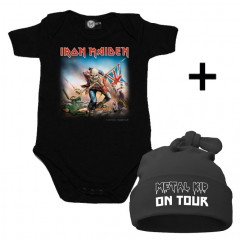 Set Cadeau Iron Maiden Body Bébé & Metal Kid on Tour Bonnet