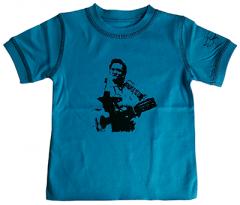 """Johnny Cash t-shirt Enfant """"Blue"""" é Cotton bio"""