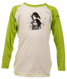 Amy Winehouse Longsleeve Bébé Baseball é Cotton bio