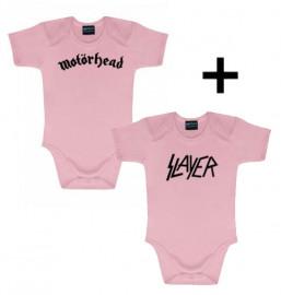 Set Cadeau Motörhead Body Bébé & Slayer body Pink