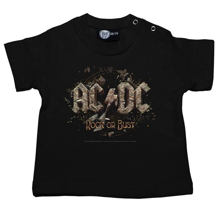 AC/DC T-shirt Bébé Rock or Bust Metal-Kids