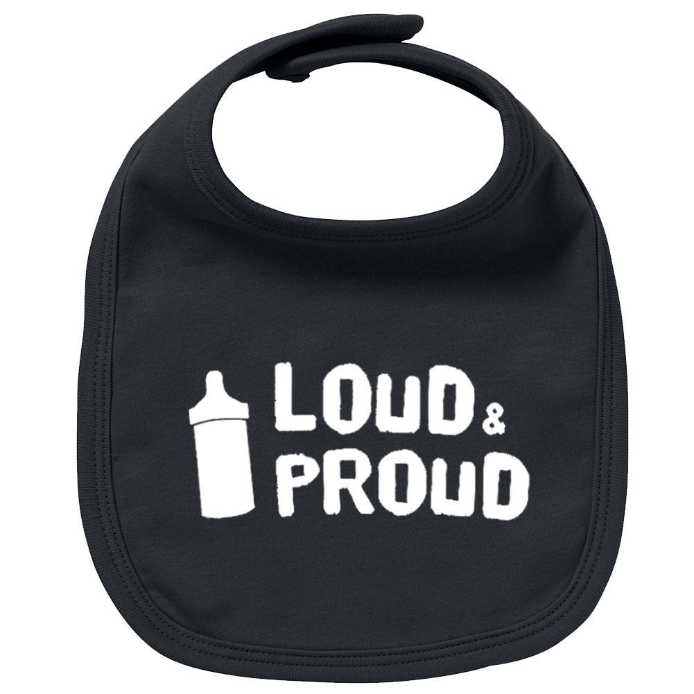 Bavoir Rock Bébé loud & proud