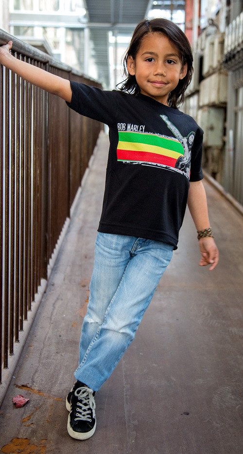 Bob Marley t-shirt Enfant Stripe photo