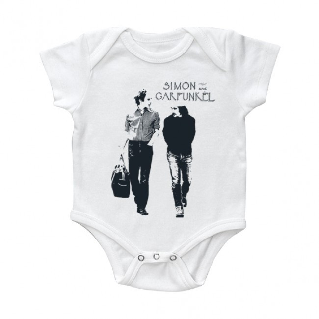 Simon & Garfunkel body Bébé Walking White