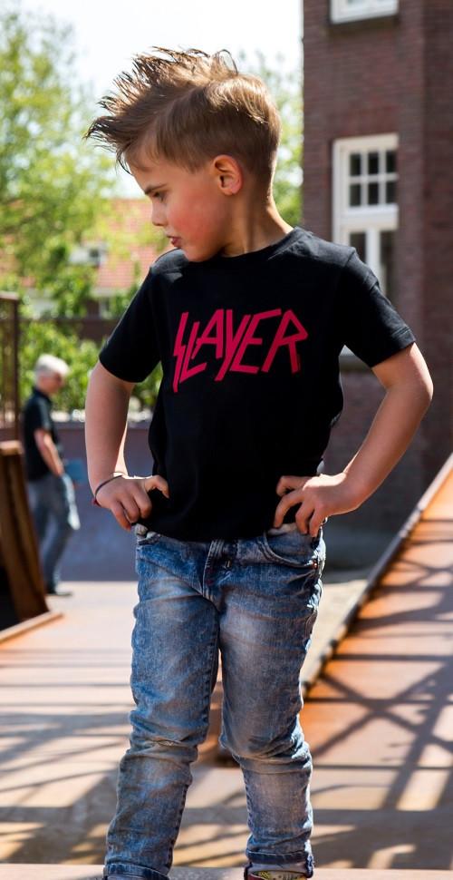 Slayer t-shirt Enfant Logo Red Metal-Kids photo