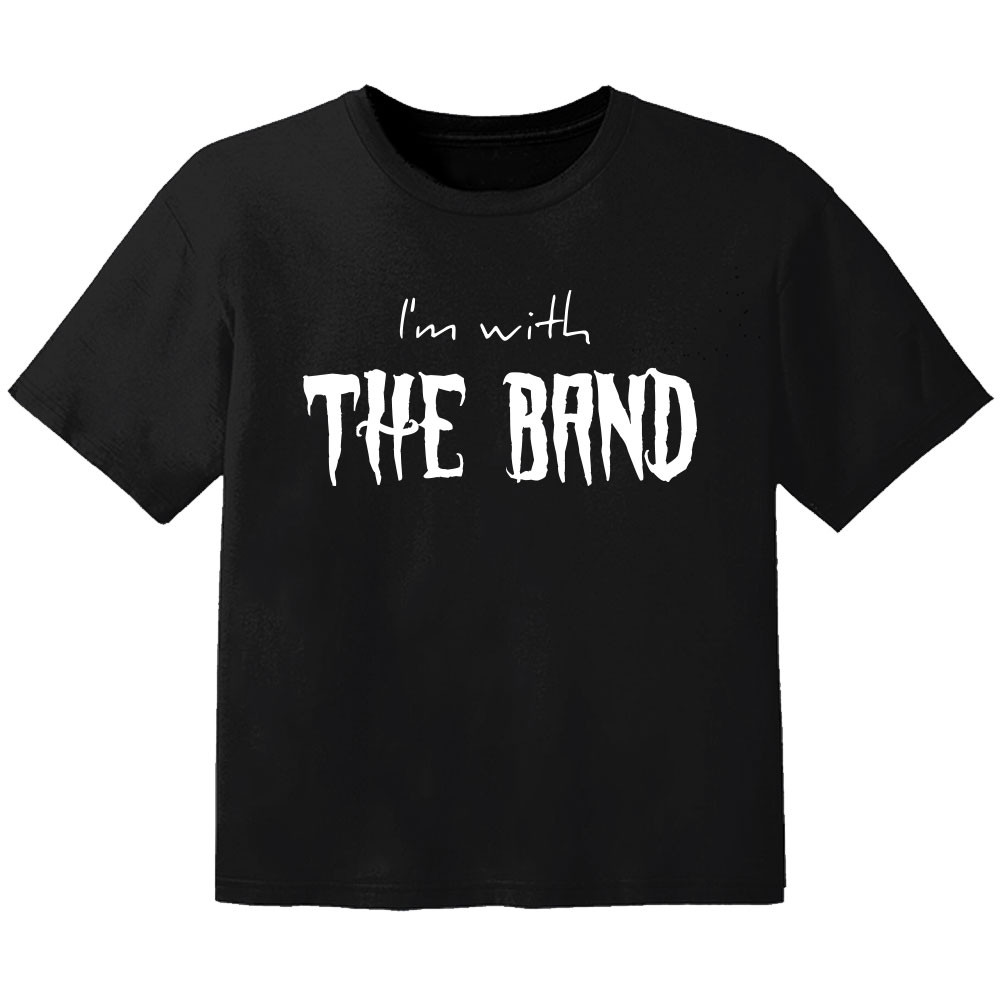 T-shirt Bébé Rock I'm with the band
