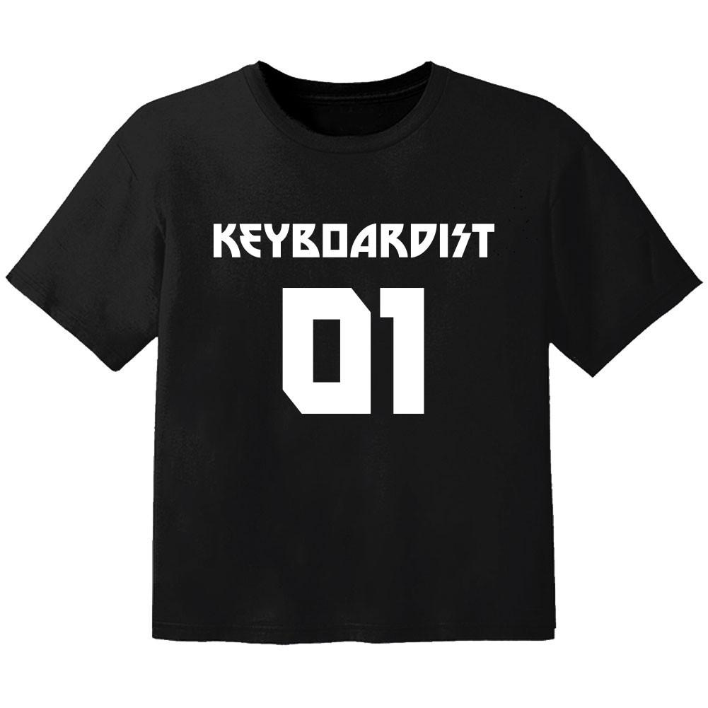 T-shirt Bébé Rock keyboardist 01