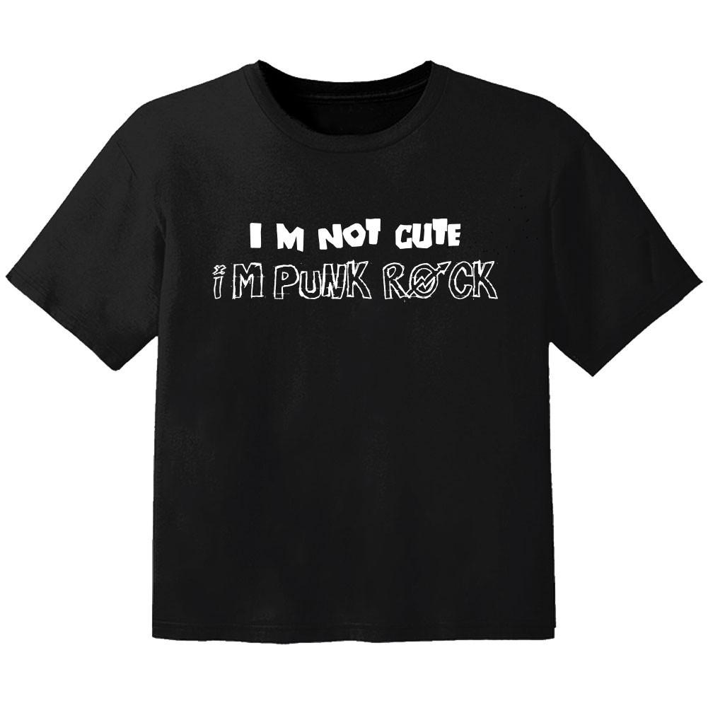 T-shirt Bébé Rock im not cute im punk rock