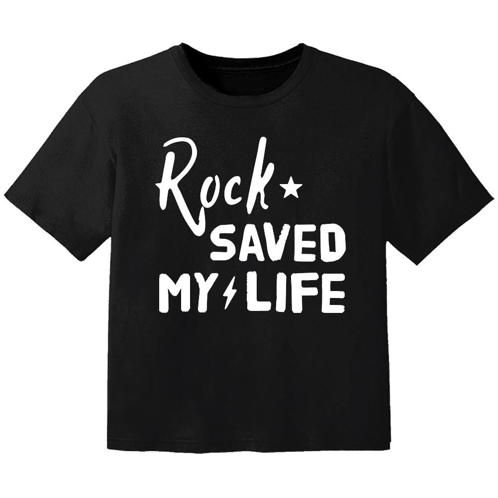 T-shirt Bébé Rock rock saved my life