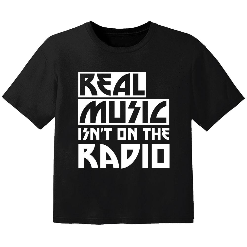 T-shirt Original Enfant real music isnt on the radio