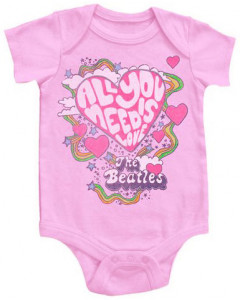 Beatles body Bébé All You Need Is Love Pink