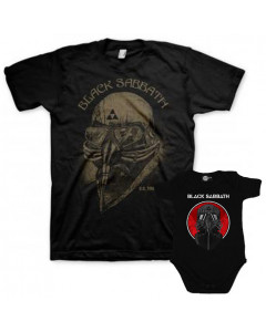 Set Rock duo t-shirt pour papa Black Sabbath & Black Sabbath body Bébé