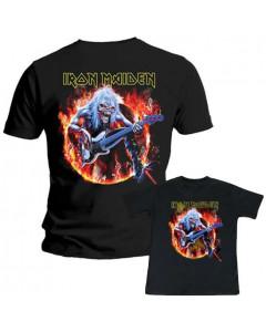 Set Rock duo t-shirt pour papa Iron Maiden & Iron Maiden t-shirt Enfant