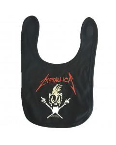 Metallica Bavoir Rock Bébé Logo white