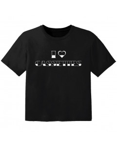 T-shirt Bébé Rock I love cassetes