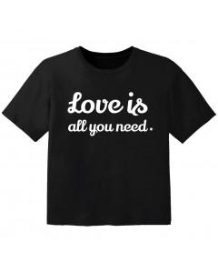 T-shirt Bébé Rock love is all you need