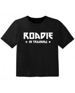 T-shirt Bébé Rock roadie in training